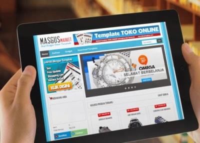 Download template TOKO ONLINE MasgusMarket