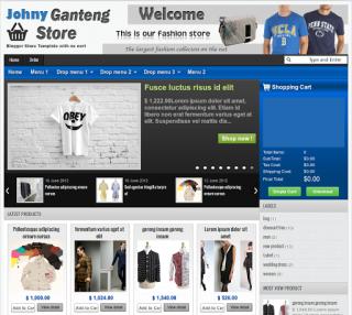7 Template Toko Online/Ecommerce Untuk Blogger